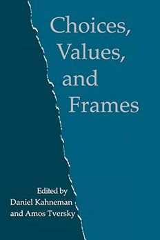 Choices, Values, and Frames book cover