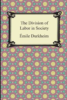 The Division of Labor in Society book cover