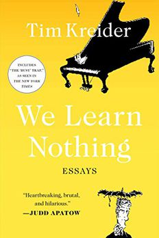 We Learn Nothing book cover