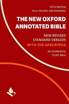 The New Oxford Annotated Bible with Apocrypha book cover