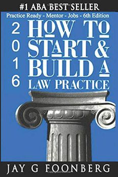 How to Start & Build a Law Practice book cover