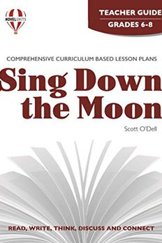 Sing down the moon, by Scott O'Dell book cover