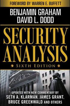 Security Analysis book cover