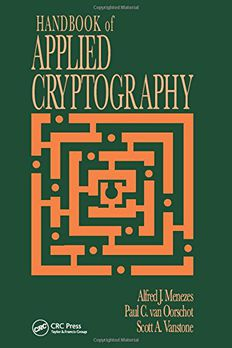 Handbook of Applied Cryptography book cover