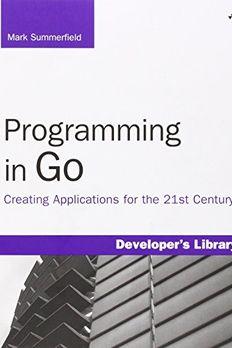 Programming in Go book cover