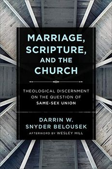 Marriage, Scripture, and the Church book cover