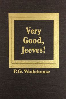 Very Good, Jeeves book cover