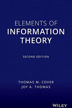 Elements of Information Theory book cover