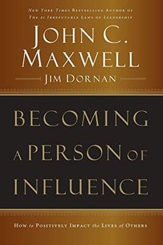Becoming a Person of Influence book cover