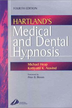 Hartland's Medical and Dental Hypnosis book cover