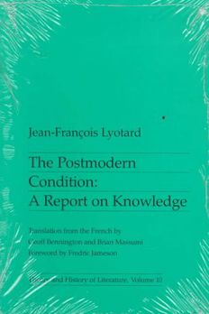 The Postmodern Condition book cover