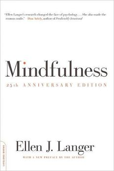 Mindfulness, 25th anniversary edition book cover