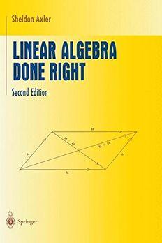 Linear Algebra Done Right book cover