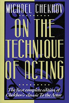 On the Technique of Acting book cover