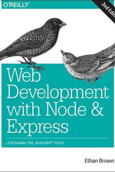 Web Development with Node and Express book cover