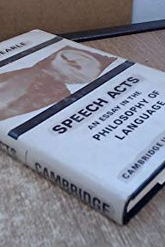 Speech Acts book cover