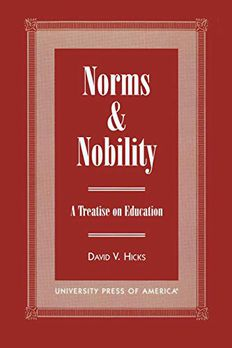 Norms and Nobility book cover