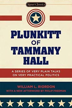 Plunkitt of Tammany Hall book cover