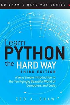 Learn Python the Hard Way book cover