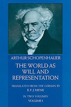 The World as Will and Representation, Vol. 1 book cover