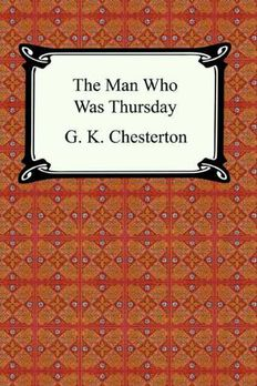 The Man Who Was Thursday [with Biographical Introduction] book cover