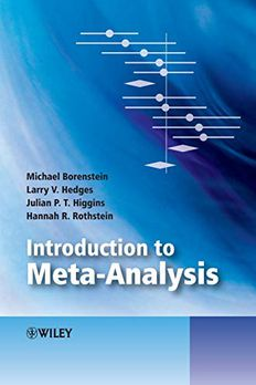 Introduction to Meta-Analysis book cover