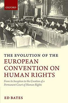 The Evolution of the European Convention on Human Rights book cover