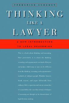 Thinking Like a Lawyer book cover