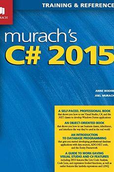 Murach's C# 2015 book cover