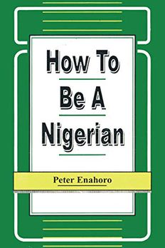 How to be a Nigerian book cover