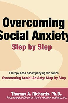 Overcoming Social Anxiety book cover