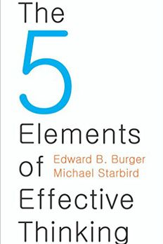 The 5 Elements of Effective Thinking book cover