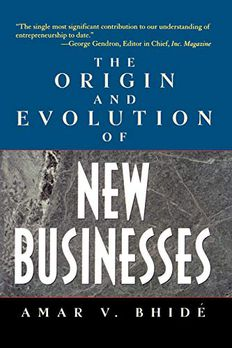The Origin and Evolution of New Businesses book cover