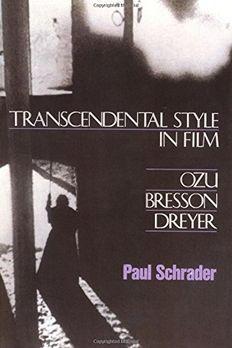 Transcendental Style In Film book cover