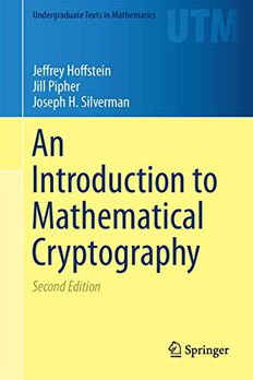 An Introduction to Mathematical Cryptography book cover