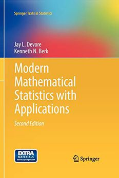 Modern Mathematical Statistics with Applications book cover