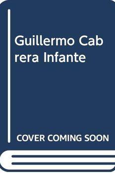 Guillermo Cabrera Infante book cover