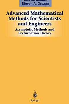 Advanced Mathematical Methods for Scientists and Engineers book cover