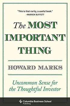 The Most Important Thing book cover